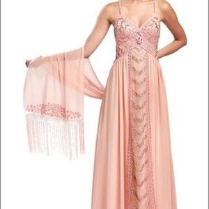 Sue Wong Art Deco Prom/Evening Gown